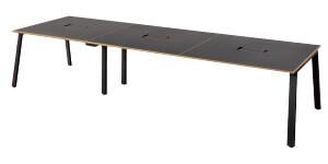 MRフリースタイルデスク 指紋レス天板 幅360cm 奥行120cm ミーティングテーブル フリーアドレステーブル おしゃれ ダイニングテーブル